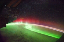 The Northern Lights as seen from the ISS  Photo credit NASA