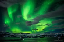 The Northern Lights flickering over Jkulsrln Lagoon Iceland  photo by Lorenzo Riva