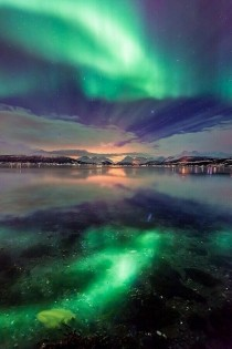 The Northern Lights in Troms Norway