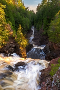 The northwoods of Wisconsin Copper Falls State Park