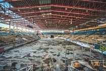 The now demolished Hara Arena - first closed due to financial problems then damaged by a tornado some years later it was once a stage for names such as The Rolling Stones Michael Jackson and Elvis Presley also serving as an arena for sports teams