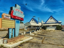 The now-demolished Little Chef Restaurant in Roanoke Virginia Abandoned in Virginia