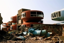 The now demolished UFO houses in Sanzhi Taiwan