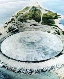 The nuclear trash can of the pacific on Enewetak Atoll