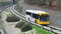 The O-Bahn busway in Adelaide South Australia One of only two in the world