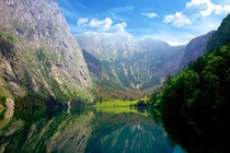 The Obersee in Bavaria Germany
