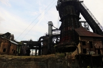The old Carrie Furnace near Pittsburgh PA