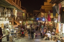 The Old City of Damascus by Night Al Nawfara Street Damascus Syria