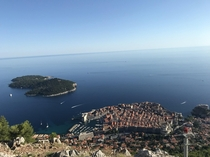 The old city of Dubrovnik from Mt Srd
