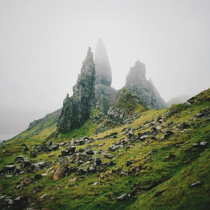 The Old Man of Storr in the Scottish Highlands by Alex Strohl