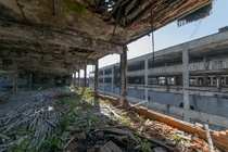 The old Packard plant in Detroit MI