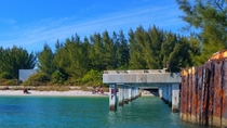 The old phosphate docks at Boca Grande Fl  OC