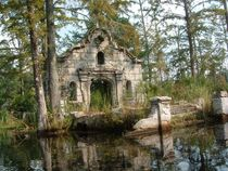 The old Spanish Mission prop set from the movie the patriot were left after the filming was completed Located in the swamps of Cypress Gardens in Moncks Corner SC