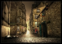 The old streets of St Malo France