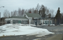 The Old US Border Station at the east end of US route  in Houlton Maine