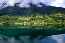 the Oldedalen valley along the Nordfjord Norway