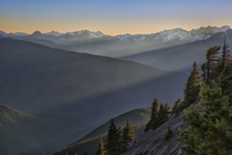 The Olympic Mountains of Washington USA  photo by Mark Betts