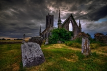 The Once Magnificent Church and Graveyard in Ireland now lies in ruins Photo by Jigs Fernandez