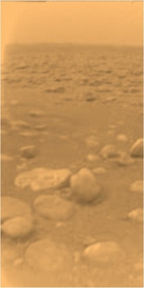The only photograph from the surface of Saturns moon Titan