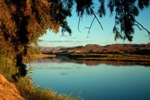 The Orange River on the boarder of Namibia and South Africa