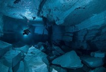 The Orda Cave is the longest underwater cave in Russia  mic