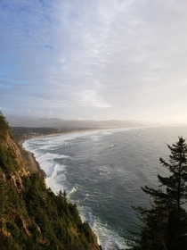 The Oregon Coast from Neahkahnie Mt Wayfinding Point