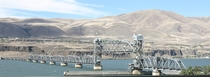 The Oregon Trunk Rail Bridge across the Columbia River near Celilo Falls