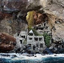 The original Moonhole Mansion on the island of Bequia - The ultimate utopian Robinson Crusoe s retreat built with scavenged materials and decorated with whalebone driftwood and shells