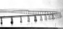 The original Tay Railway Bridge before the collapse c