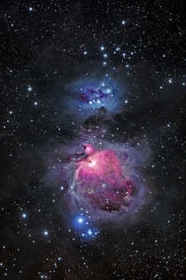 The Orion Nebula and Running Man Nebula  Imaged by Joel Tonyan