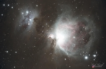 The Orion Nebula as seen by a DSLR from a darksite with very little light pollution