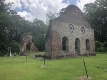 The other day I found an abandoned church dating back to pre revolutionary war times in South Carolina