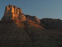 The other El Capitan in the Guadalupe Mountains Texas