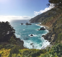 The other side of McWay Falls at Julia Pfeiffer Burns State Park - Big Sur CA