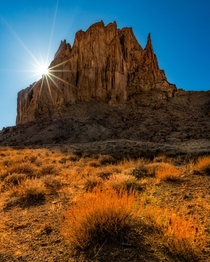 The Other Side of Shiprock NM
