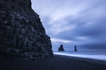 The otherworldly basalt columns of Reynisfjara one of Icelands famous black sand beaches