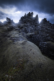 The otherworldly lava fields of Iceland