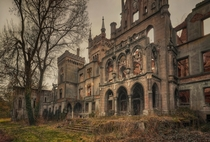 The overgrown ruins of Kopice Castle Poland  By DARKstyle Pictures