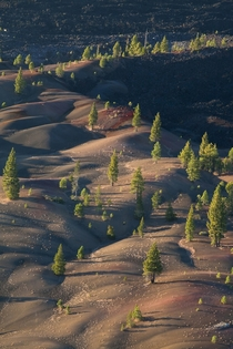 The Painted Dunes of Lassen Volcanic National Park Just outside Redding California
