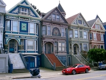 The Painted Ladies in the Haight-Ashbury neighborhood of San Francisco