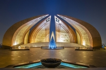 The Pakistan Monument Islamabad  x-post rExplorePakistan