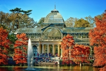The Palacio de Cristal is a conservatory located in Madrids Buen Retiro Park It was built in  on the occasion of the Exposition of the Philippines held in the same year then a Spanish colonial possession The architect was Ricardo Velzquez Bosco