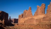 The Park Avenue formation in Arches National Park Utah USA