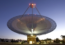 The Parkes telescope in Australia part of the Commonwealth Scientific and Industrial Research Organization