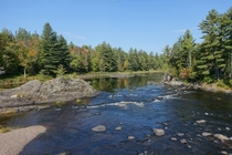 The peaceful East Branch of the Penobscot River Maine