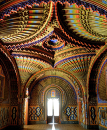 The Peacock room Castello di Sammezzano in Reggello Tuscany
