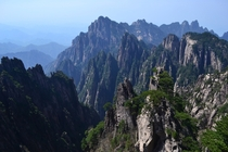 The peaks of Huangshan China