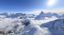 The Pennine Alps near Zermatt Switzerland  by AirPanoMicrosoft