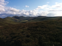 The Pentland Hills on the edge of Edinburgh Scotland