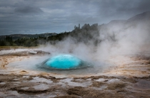 The perfect bubble - geyser Strokkur Northern Iceland